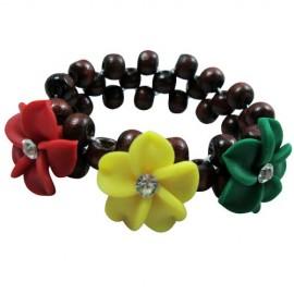 Rasta Flowers Coco Beads Bracelet