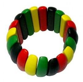 Rasta Wood Bracelet