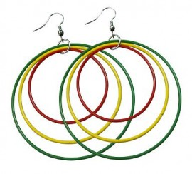 Rasta Hoops Earrings