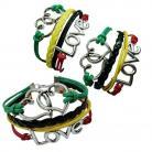 Love/Heart Rasta Bracelet
